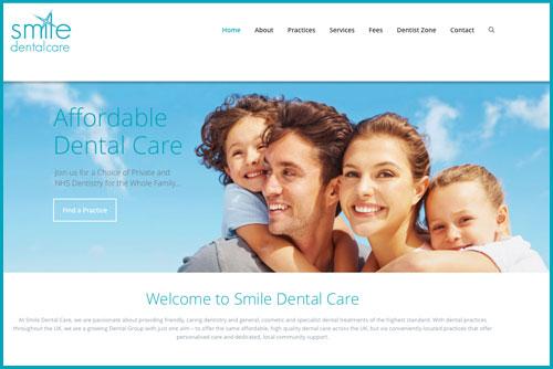 Smile Dental Care - new practice website image